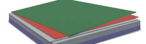 Процесс окраски плоского шифера
